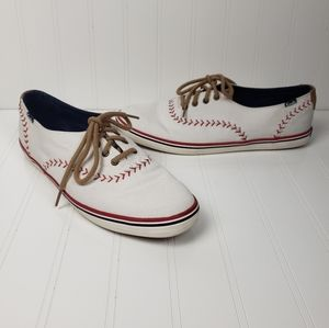 Keds baseball patterned lace up sneakers